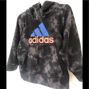 3T adidas marble print hoodie with front pocket